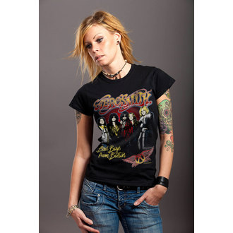 tričko dámské Aerosmith - Band - Black - HYBRIS, HYBRIS, Aerosmith