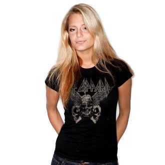 tričko dámské Def Leppard - Flying Skulls - Black - HYBRIS, HYBRIS, Def Leppard