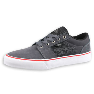 boty ETNIES - Metal Mulisha - Barge - GREY/BLACK/WHITE