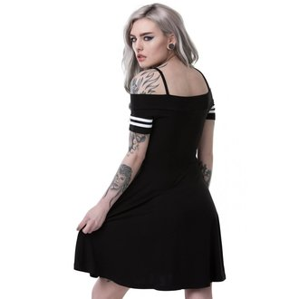 šaty dámské KILLSTAR - EXPECTATIONS BARDOT - BLACK