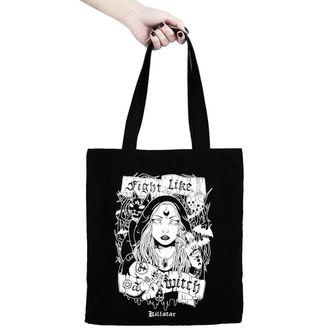 taška (kabelka) KILLSTAR - FIGHT LIKE A WITCH TOTE - BLACK - K-BAG-F-2963