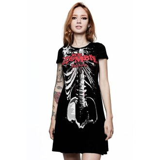 šaty dámské KILLSTAR - Rob Zombie - Foxy Bones Skater - BLACK, KILLSTAR, Rob Zombie