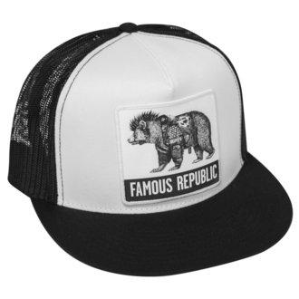 kšiltovka FAMOUS STARS & STRAPS -  FAMOUS REPUBLIC - BLACK WHITE, FAMOUS STARS & STRAPS