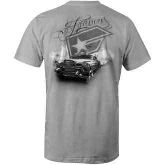 tričko pánské FAMOUS STARS & STRAPS -  L.A. - GREY, FAMOUS STARS & STRAPS