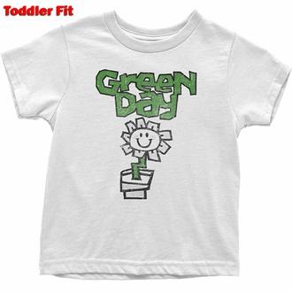 tričko dětské Green Day - Flower - WHT - ROCK OFF, ROCK OFF, Green Day
