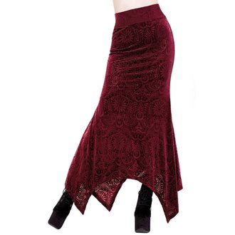sukně dámská KILLSTAR - Genesis - WINE - KSRA000044