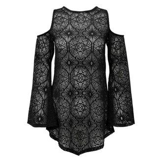tričko dámské s dlouhým rukávem (tunika) KILLSTAR - GIA LACE - BLACK - KSRA000140