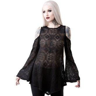 tričko dámské s dlouhým rukávem (tunika) KILLSTAR - GIA LACE - BLACK, KILLSTAR
