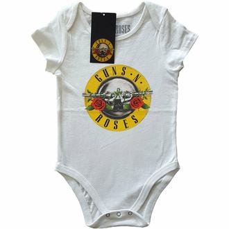 body dětské Guns N' Roses - Classic Logo - WHT - ROCK OFF, ROCK OFF, Guns N' Roses