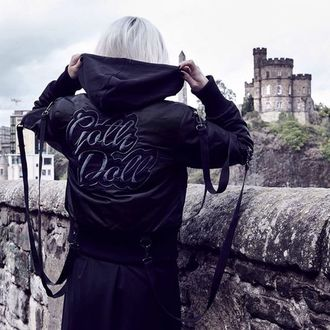 bunda dámská (bomber) KILLSTAR - Goth Doll Street  - Black
