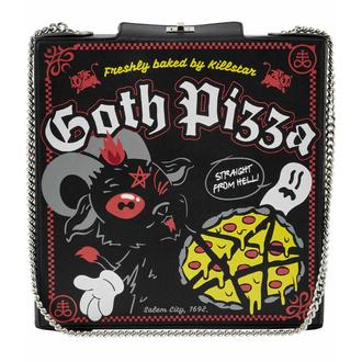 kabelka (taška) KILLSTAR - Goth Pizza - BLACK - KSRA003636