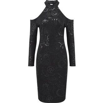 šaty dámské KILLSTAR - GRAVE GIRL HALTER - BLACK - K-DRS-F-2770