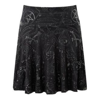 sukně dámská KILLSTAR - GRAVE SKATER - BLACK - K-SKR-F-2766