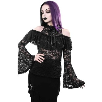 tričko dámské s dlouhým rukávem (halenka) KILLSTAR - GRETA MAIDEN - BLACK