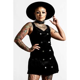 šaty dámské KILLSTAR - Griselda Corduroy - Black - KSRA004063