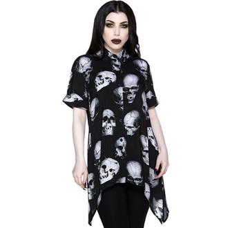 košile dámská KILLSTAR - Headache Button-Up - Black, KILLSTAR
