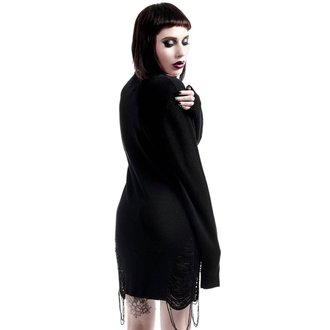 svetr dámský KILLSTAR - Hell In Harlow Distress Knit - Black, KILLSTAR