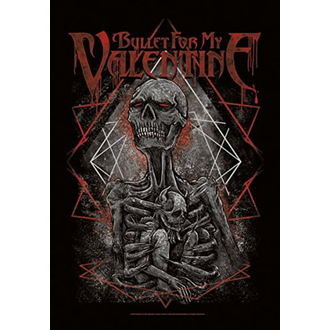 vlajka Bullet For my Valentine - Skeleton, HEART ROCK, Bullet For my Valentine