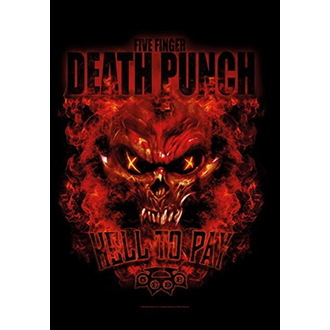 vlajka Five Finger Death Punch - Hell to Pay, HEART ROCK, Five Finger Death Punch