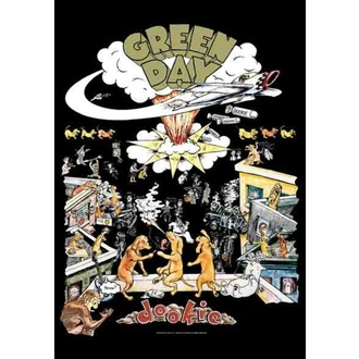 vlajka Green Day - Dookie, HEART ROCK, Green Day