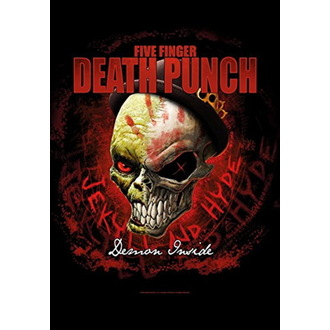 vlajka Five Finger Death Punch - Dapper, HEART ROCK, Five Finger Death Punch