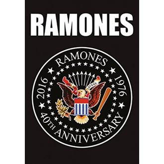 vlajka Ramones - 40th Anniversary Logo, HEART ROCK, Ramones
