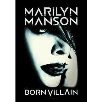 vlajka Marilyn Manson - Born Villain, HEART ROCK, Marilyn Manson