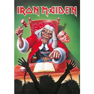 vlajka Iron Maiden - 10 Years, HEART ROCK, Iron Maiden