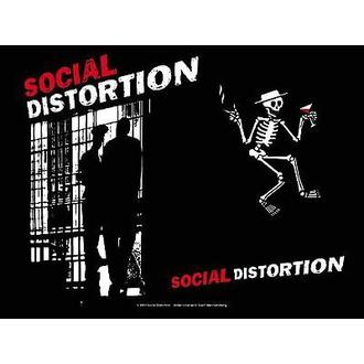vlajka Social Distortion - Slammer, HEART ROCK, Social Distortion