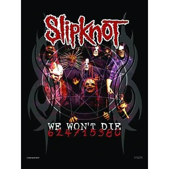 vlajka Slipknot - We won´t Die, HEART ROCK, Slipknot