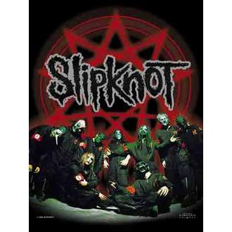 vlajka Slipknot - Below Pentagram In Circle, HEART ROCK, Slipknot
