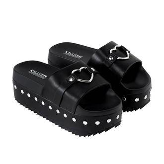 boty dámské (sandály) KILLSTAR - I HEART METAL SLIDES - BLACK - KSRA000012