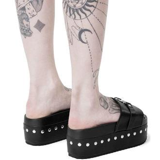 boty dámské (sandály) KILLSTAR - I HEART METAL SLIDES - BLACK