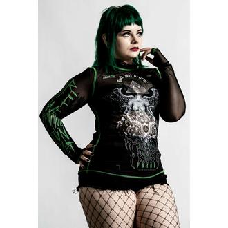 tričko dámské s dlouhým rukávem KILLSTAR - Illuminated Mesh - Black, KILLSTAR