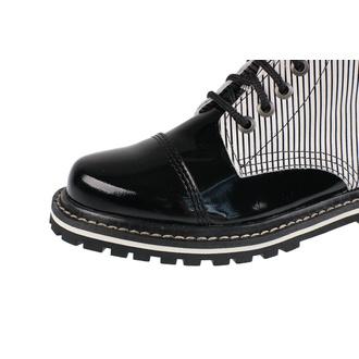 boty STEADY´S - 8 dírkové - Black stripes - STE/802_Black stripes