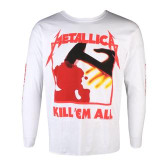 tričko pánské s dlouhým rukávem Metallica - Kill Em All - White, NNM, Metallica