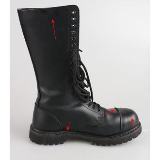 boty kožené 20dírkové BRANDIT - Phantom Black - POŠKOZENÉ, BRANDIT