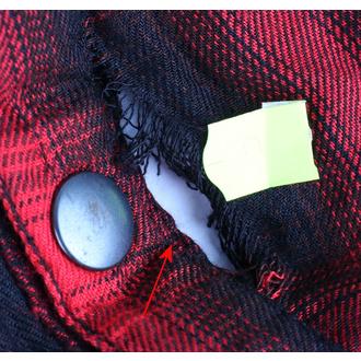 košile pánská VIXXSIN - Corner Shirt - Red - POŠKOZENÁ, VIXXSIN