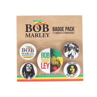placky Bob Marley - PYRAMID POSTERS, PYRAMID POSTERS, Bob Marley