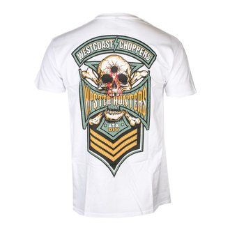 tričko pánské WEST COAST CHOPPERS - HIPSTER HUNTERS - Solid White, West Coast Choppers