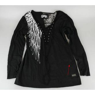 tričko dámské s dlouhým rukávem VIXXSIN - SHADOW ANGEL - BLACK - POŠKOZENÉ - MA527