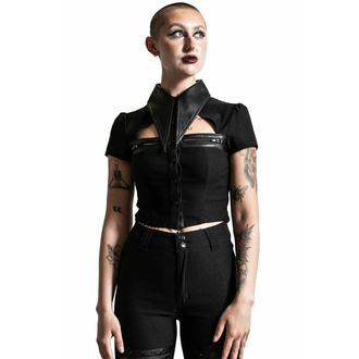 tričko dámské KILLSTAR - Insomnia Crop - Black, KILLSTAR