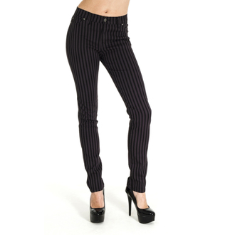 kalhoty (unisex) 3RDAND56th - Striped Skinny Jeans - Blk/Grey, 3RDAND56th
