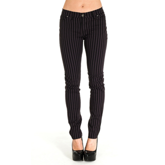 kalhoty (unisex) 3RDAND56th - Striped Skinny Jeans - Blk/Grey