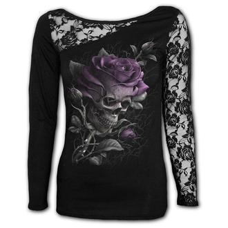 tričko dámské s dlouhým rukávem SPIRAL - SKULL ROSE, SPIRAL