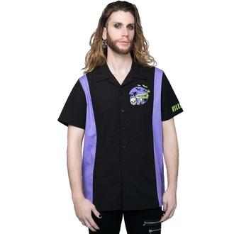 košile pánská KILLSTAR - Kon-Tiki - Black, KILLSTAR
