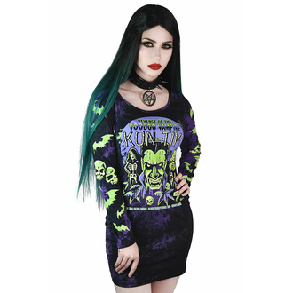 šaty dámské KILLSTAR - Kon-Tiki Tie Dye - Violet, KILLSTAR