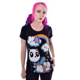 tričko dámské Killer Panda - CLOUDS - BLACK, KILLER PANDA
