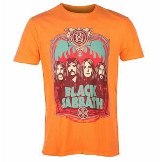 tričko pánské BLACK SABBATH - FLAMES - ORANGE CRUSH - AMPLIFIED, AMPLIFIED, Black Sabbath