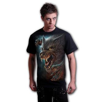 tričko pánské SPIRAL - WILD MOON - Black - K072M101